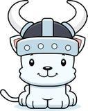 Cartoon Smiling Viking Kitten Stock Photography