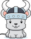 Cartoon Smiling Viking Mouse Stock Photography