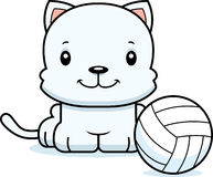 Cartoon Smiling Volleyball Player Kitten Royalty Free Stock Photography
