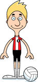 Cartoon Smiling Volleyball Player Man Royalty Free Stock Image