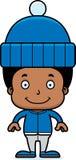Cartoon Smiling Winter Boy Royalty Free Stock Image