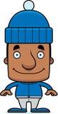 Cartoon Smiling Winter Man Royalty Free Stock Image