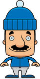 Cartoon Smiling Winter Man Stock Images