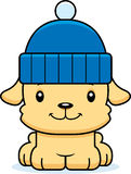 Cartoon Smiling Winter Puppy Stock Photos