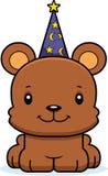 Cartoon Smiling Wizard Bear Stock Image