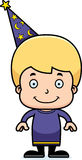 Cartoon Smiling Wizard Boy Royalty Free Stock Photos