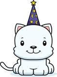 Cartoon Smiling Wizard Kitten Royalty Free Stock Photo