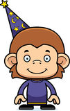 Cartoon Smiling Wizard Monkey Royalty Free Stock Images