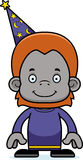 Cartoon Smiling Wizard Orangutan Royalty Free Stock Photo
