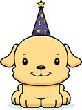 Cartoon Smiling Wizard Puppy Stock Images