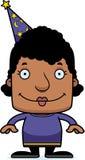 Cartoon Smiling Wizard Woman Stock Images
