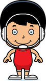 Cartoon Smiling Wrestler Boy Stock Photography