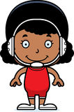 Cartoon Smiling Wrestler Girl Stock Image
