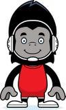 Cartoon Smiling Wrestler Gorilla Royalty Free Stock Images