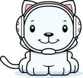 Cartoon Smiling Wrestler Kitten Stock Photo