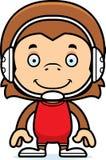 Cartoon Smiling Wrestler Monkey Stock Images
