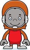 Cartoon Smiling Wrestler Orangutan Royalty Free Stock Images