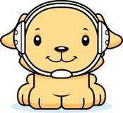 Cartoon Smiling Wrestler Puppy Royalty Free Stock Photography
