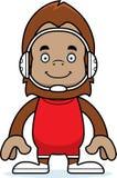 Cartoon Smiling Wrestler Sasquatch Royalty Free Stock Photos