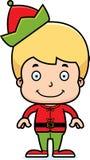 Cartoon Smiling Xmas Elf Boy Stock Photos