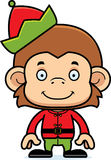 Cartoon Smiling Xmas Elf Monkey Stock Photo