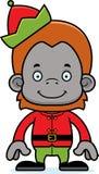 Cartoon Smiling Xmas Elf Orangutan Royalty Free Stock Images