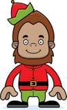Cartoon Smiling Xmas Elf Sasquatch Stock Image