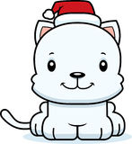 Cartoon Smiling Xmas Kitten Stock Image
