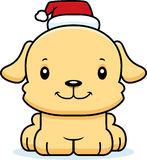 Cartoon Smiling Xmas Puppy Royalty Free Stock Photography