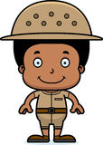 Cartoon Smiling Zookeeper Boy Royalty Free Stock Image
