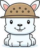 Cartoon Smiling Zookeeper Bunny Stock Photo