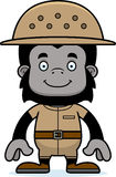 Cartoon Smiling Zookeeper Gorilla Stock Images