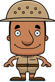 Cartoon Smiling Zookeeper Man Stock Images
