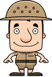 Cartoon Smiling Zookeeper Man Stock Photography