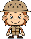 Cartoon Smiling Zookeeper Monkey Royalty Free Stock Photography