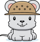 Cartoon Smiling Zookeeper Mouse Royalty Free Stock Photography