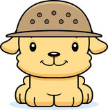 Cartoon Smiling Zookeeper Puppy Stock Photo