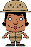 Cartoon Smiling Zookeeper Woman Royalty Free Stock Photo