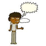 Cartoon smoker with speech bubble Royalty Free Stock Photo