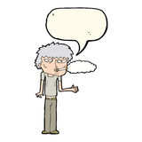 Cartoon smoker with speech bubble Royalty Free Stock Images