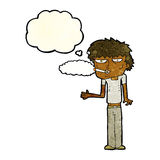 Cartoon smoker with thought bubble Stock Photo