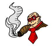 Cartoon smoking Stock Photography