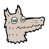 Cartoon smug wolf face Stock Photo