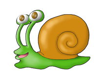 Cartoon snail Stock Photography