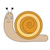 Cartoon snail character. Vector illustration, design element Stock Image
