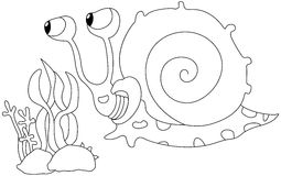 Cartoon snail Royalty Free Stock Image