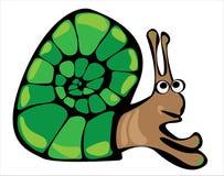 Cartoon  snail isolated on white Stock Image