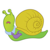 Cartoon snail manager Royalty Free Stock Photography