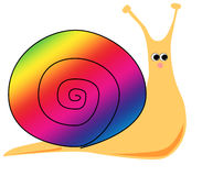Cartoon Snail (Rainbow) Stock Photography