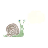 Cartoon snail with thought bubble Stock Image